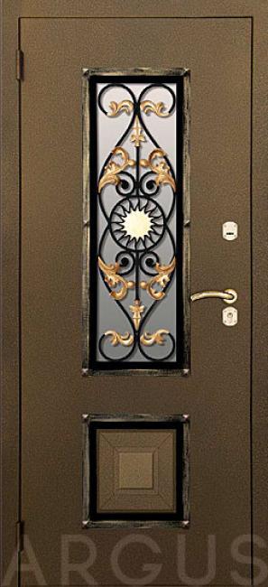 металлические двери со стеклом и ковкой расчет стоимости